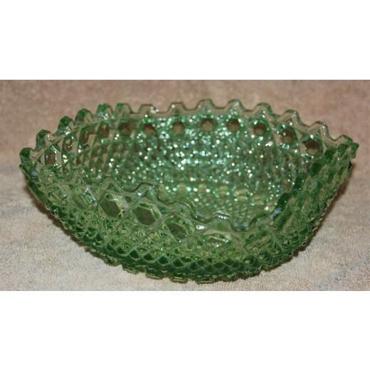 Skål i grønt glas