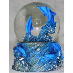 Delfin sne-kuglen